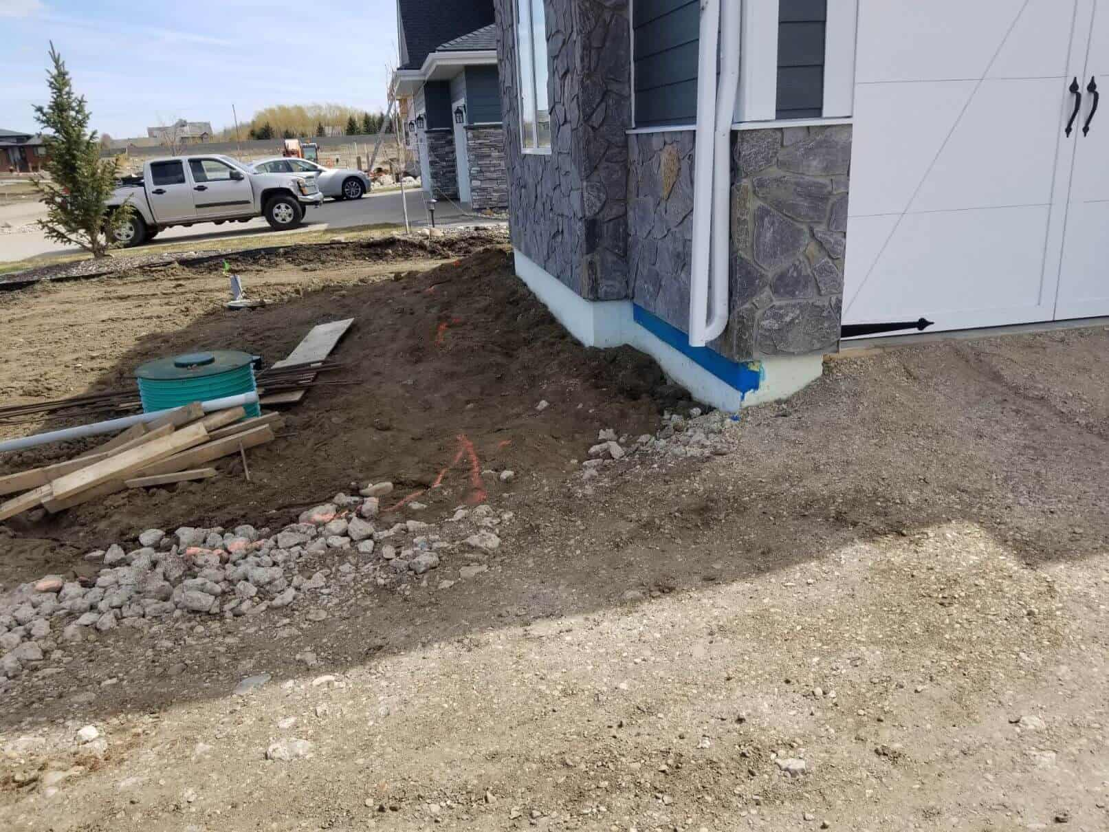 how to mix parging cement