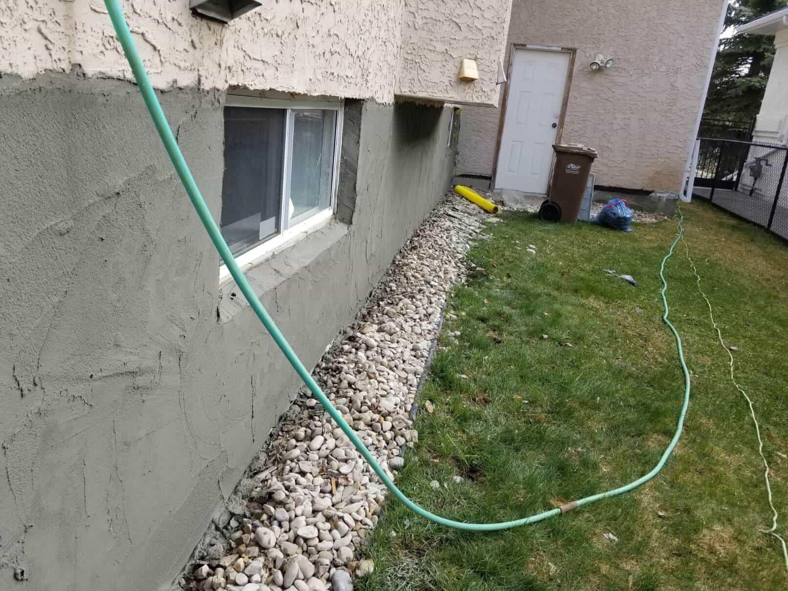 basement walls repair parging