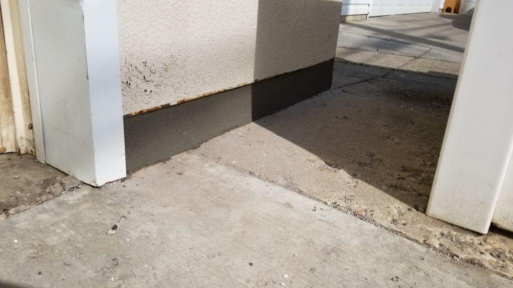 concrete parging repair