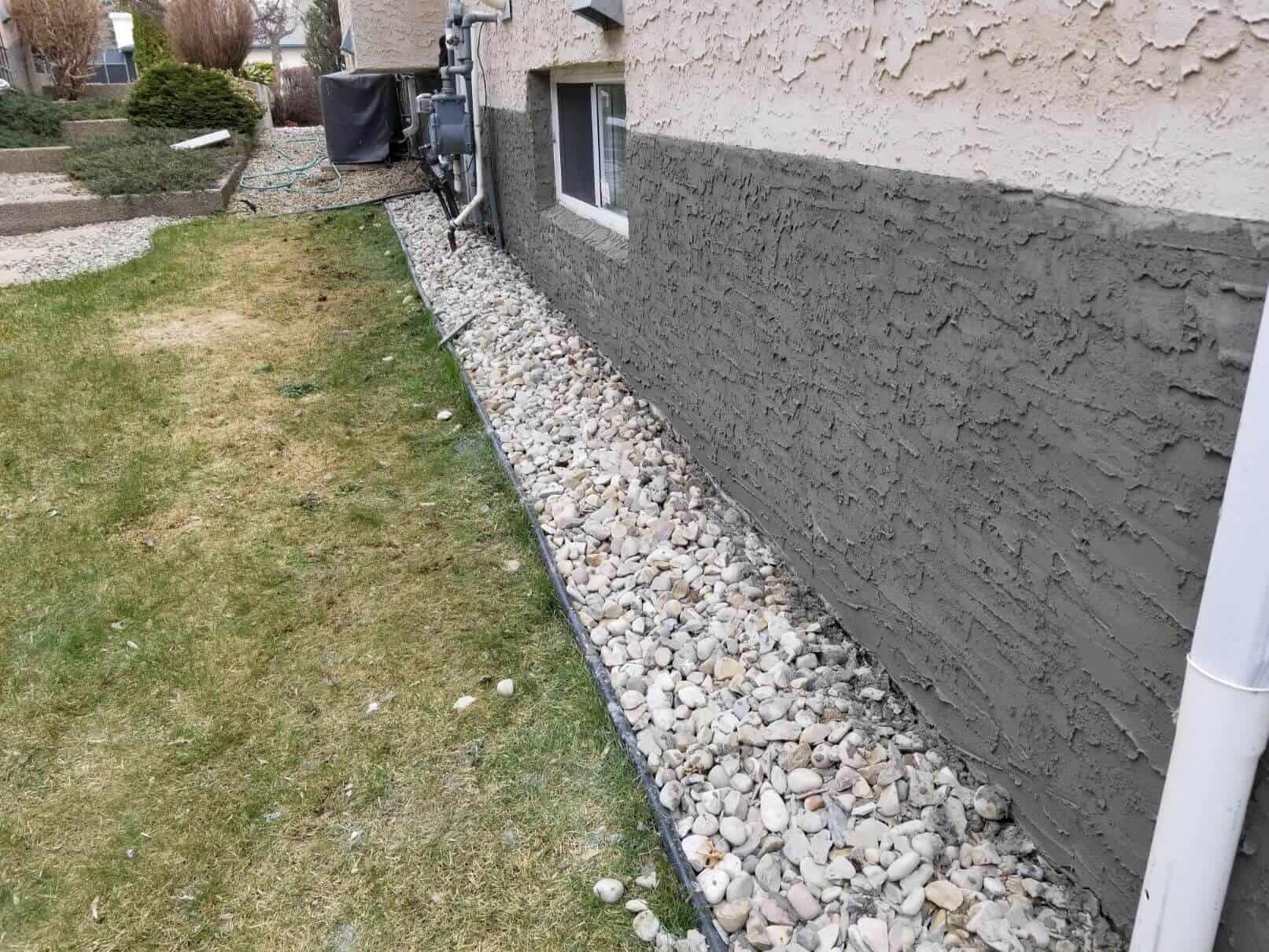 concrete wall water leak