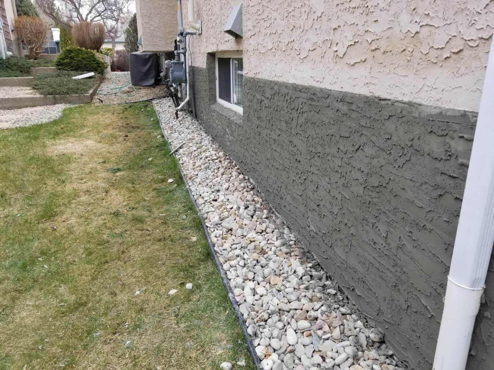 how to parge foundation walls