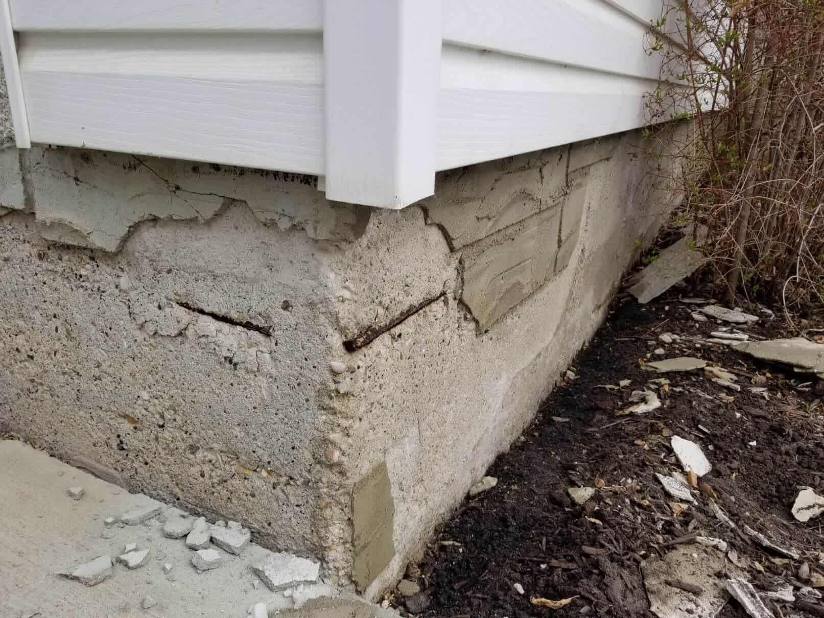crumbling parging falling off