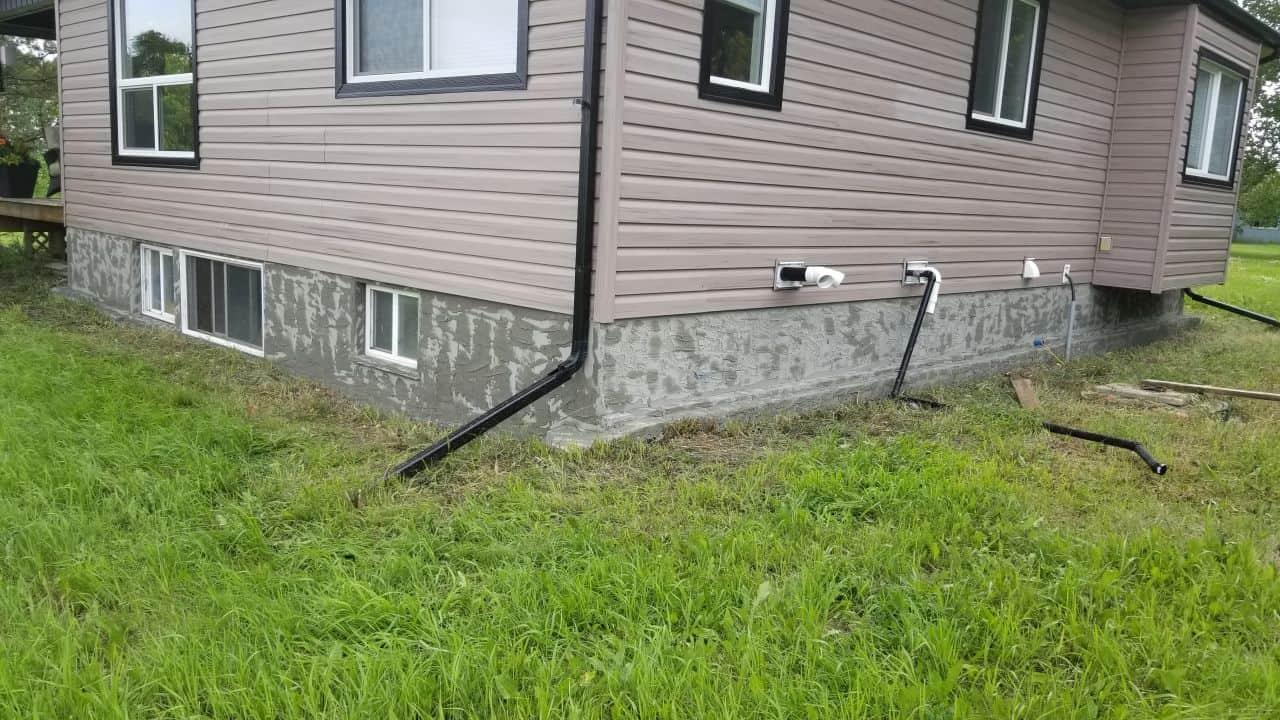 foundation walls parging