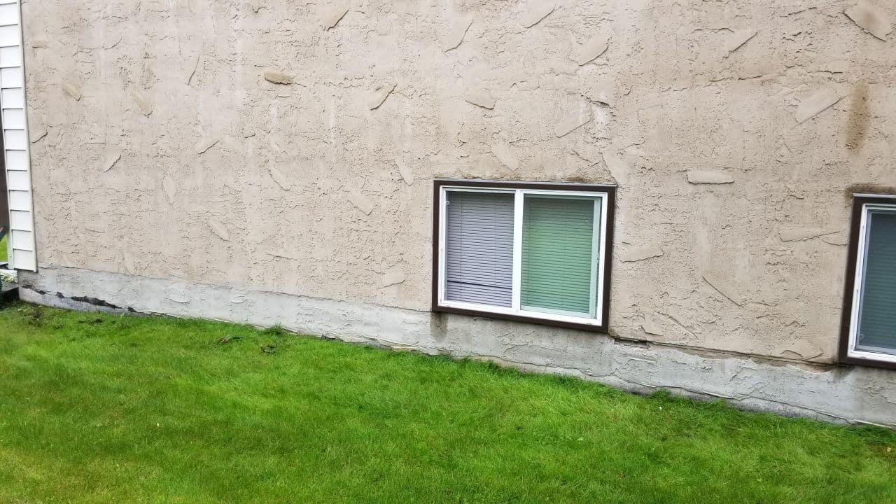 concrete foundation parging
