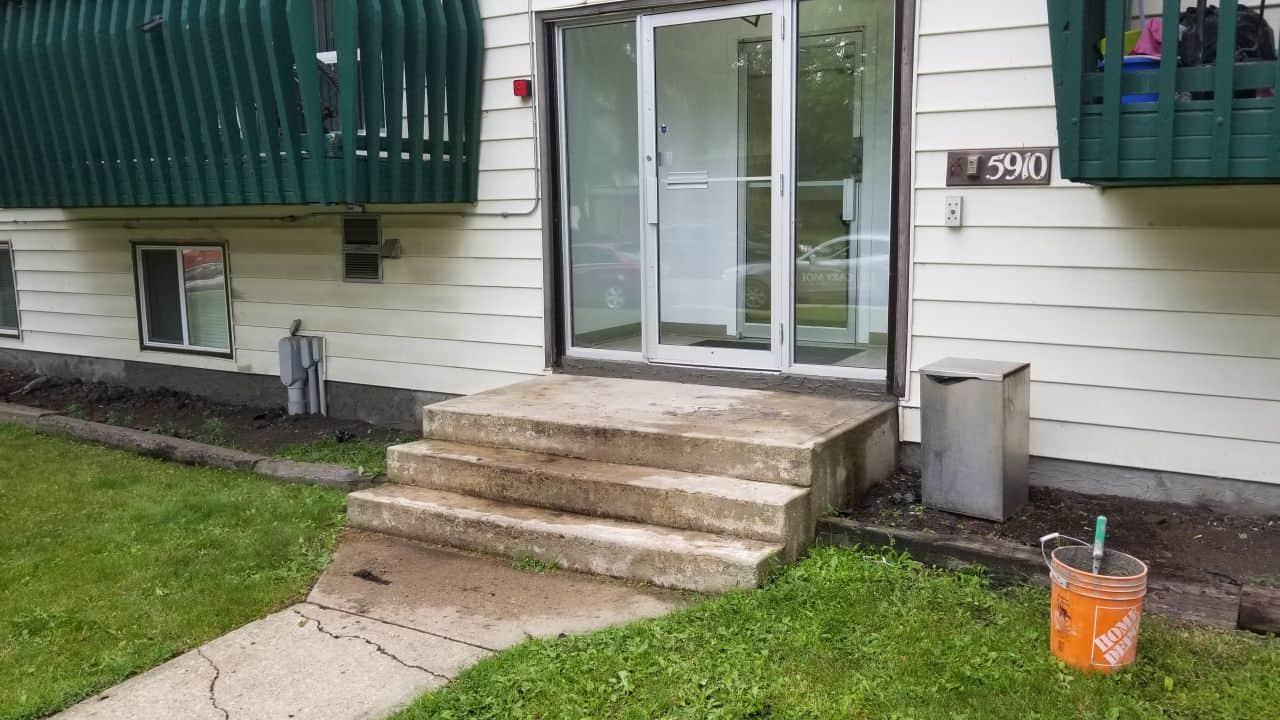 concrete basement parging
