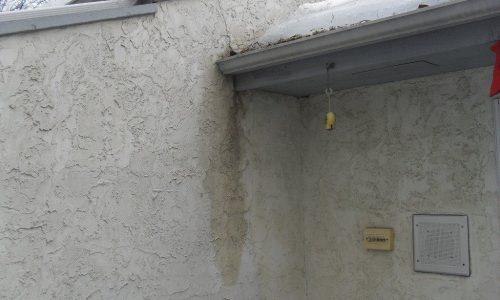 stucco tears water damage edmonton